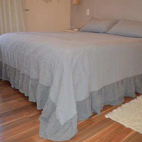 Cobertor de Cama - Con Doble Volado + Almohadón/s - Tusor
