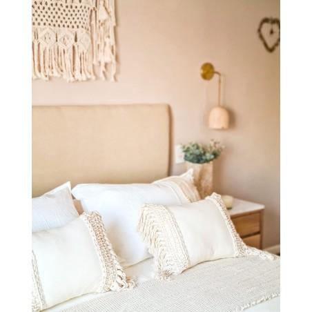 Cobertor de Cama  Calandra  Tusor, Apliques y Almohadon/es